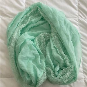 Teal/mint infinity scarf
